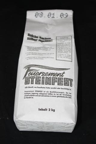 Feuerfester Zement 2kg bis 1000/°C