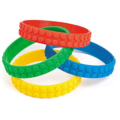 Fun Express Color Brick Building Block Party Favor Bracelets - 12 ct for $<!--$6.96-->