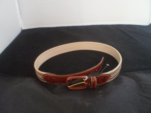 BURBERRY SIZE 40 NOVA CHECK LEATHER BELT