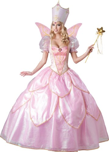 Deluxe Glinda Adult Costumes (InCharacter Costumes Women's Fairy Godmother Costume, Pink, Large)