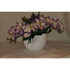 The Unique Gift Boutique Freesia and Crocus Nautilus Shell Silk Cloth Floral Arrangement