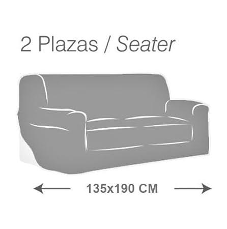 MercuryTextil Fundas de Sofas elasticas y adapatable, Funda Sofa 1,2,3 plazas Sofa Clic (Naranja, 2PLAZAS 135-190CM)