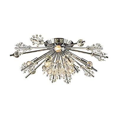 Elk Lighting 11748/8 Close-to-Ceiling-Light-fixtures, Chrome