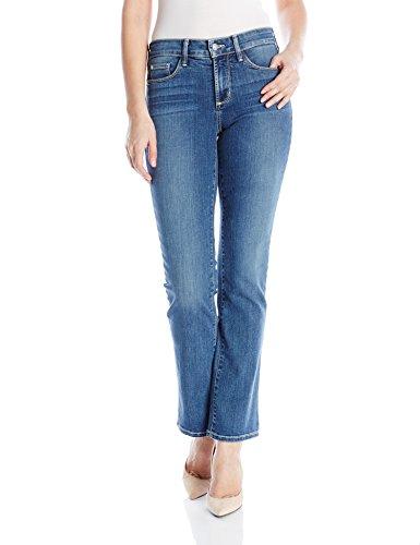 Marilyn Short - NYDJ Women's Marilyn Straight Leg Denim Jeans Short Inseam, Heyburn Wash, 4 Short
