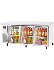 Turbo Air - J Series Undercounter 19 cu. ft. 3 Glass Door Reach-In Refrigerator