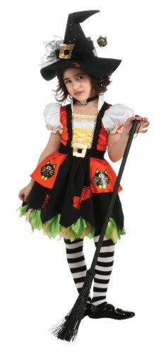 Fashion Witch Child Costumes (Kitty Witch Costume, Medium)