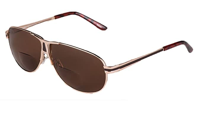 3777e1feac6 Image Unavailable. Image not available for. Colour  soolala mens moore  aviator nearly invisible line bifocal sunglasses with readers ...