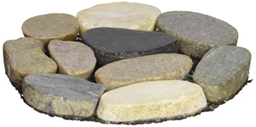 - Abbott Collection Flat Stone Round Coaster