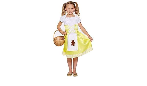 Fancy Me Niñas Amarillo Ricitos de Oro Libro día Halloween Disfraz ...