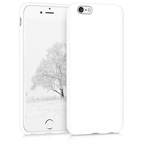 Case White Solid - kwmobile TPU Silicone Case for Apple iPhone 6 / 6S - Soft Flexible Shock Absorbent Protective Phone Cover - White Matte