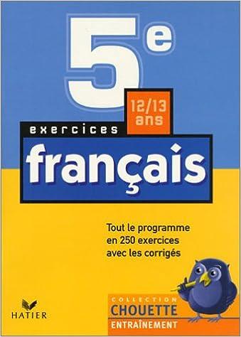 Amazon Fr Chouette Entrainement Francais De La 5e A La