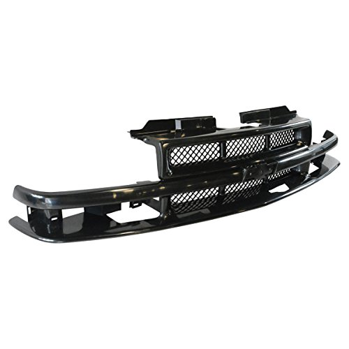 Grille Grill Black Front End for Chevy Blazer S10 Pickup Truck Xtreme SS Pickup