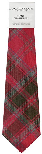 Clan Tie Grant Weathered Tartan Pure Wool Scottish Handmade Necktie