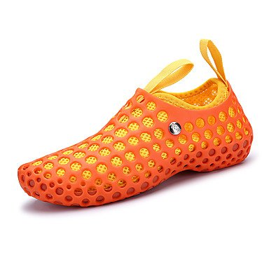LvYuan Tacón Plano-Confort Suelas con luz-Sandalias-Exterior Informal Deporte-Tejido-Negro Azul Rojo Naranja Orange