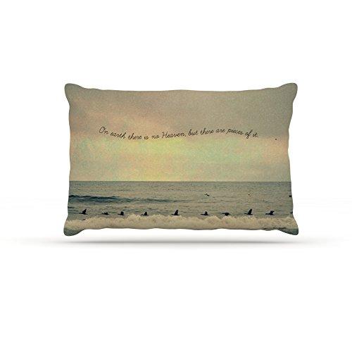 Kess InHouse Robin Dickinson Pieces of Heaven  Fleece Dog Bed, 50 by 60 , Tan Beach