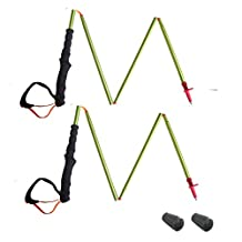 MOUNTAIN YOYO M Series Ultra Light Weight(Aviation 7075 Aluminium Alloy) (198g, 7oz) Walking Pole Trekking Pole Walking Stick Collapsible Anti Shock Men Women