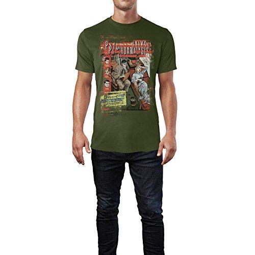 SINUS ART® Psychoanalysis Herren T-Shirts Armee grünes Cooles Fun Shirt mit tollen Aufdruck