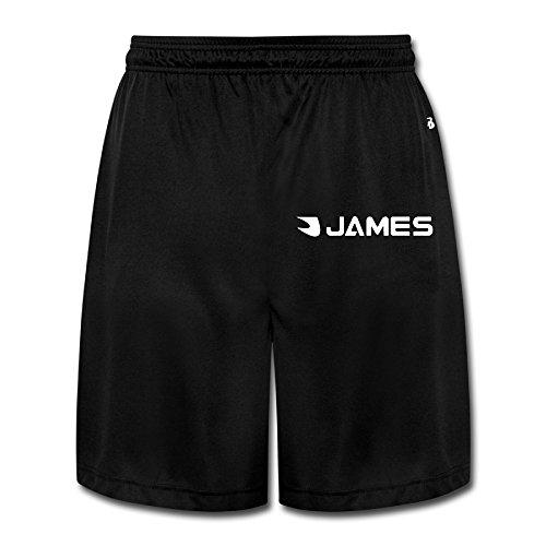 JUN J Basketball Player Short Sport Gym Pants For Men's Black Size XL