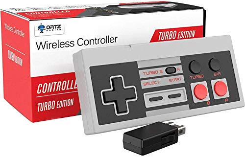 Ortz NES Classic Wireless Controller [Turbo Edition] Rapid Buttons for Nintendo Gaming System [Nintendo NES Edition]