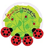 Boston Warehouse 94469 Red & Black Magnetic Ladybug Clips 4 Count