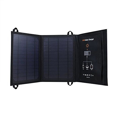 I-solar 5V 11W Monocrystalline Solar Cell New Arrival Foldable Outdoor Solar Power Charger Panels Usb Ports for Iphone for Ipad