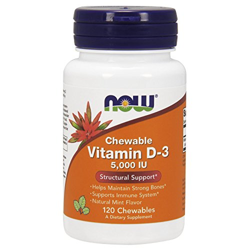 NOW Vitamin D-3 5,000 IU,120 Chewables