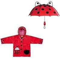 Kidorable Ladybug Rain Coat and Umbrella Set (3T)