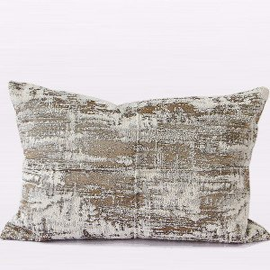 G Home Collection Luxury Light Gold Mix Color Metallic Chenille Pillow Cover ()