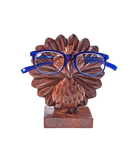 Matr Boomie Aeh-293 Handmade Wood Peacock Eyeglass Holder