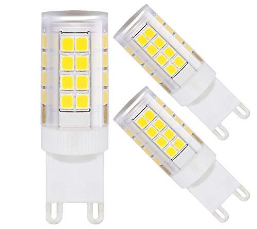 TORCHSTAR 3-Pack 3.5W Dimmable G9 Base LED Bulb, ETL Listed, 40W Halogen Equivalent, 350lm, 360° Omni Beam Angle, 5000K Daylight, 100-130V, Chandeliers/Desk Lamp/Scones/Wall Light/Landscape Lighting