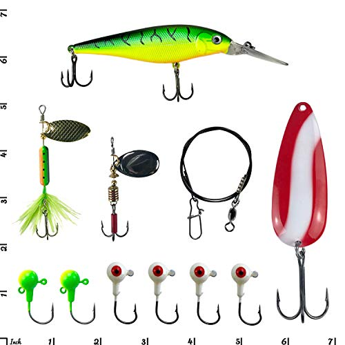 Tackle Box Lures Crankbait Pliers Hooks Spinners Bass Trout Fishing Kit 118 pc
