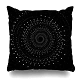 Decor Champ Throw Pillow Covers Light Abstract Swirl Space Concept Design Galaxy Deep Universe Solar System Planets Earth Nebula Home Decor Sofa Pillowcase Square Size 18 x 18 Inches Cushion Cases