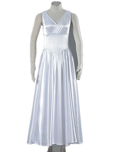 [Love Saint Seiya Legend of Sanctuary Cosplay Costume-Athena White Dress] (Saint Seiya Cosplay Costumes)