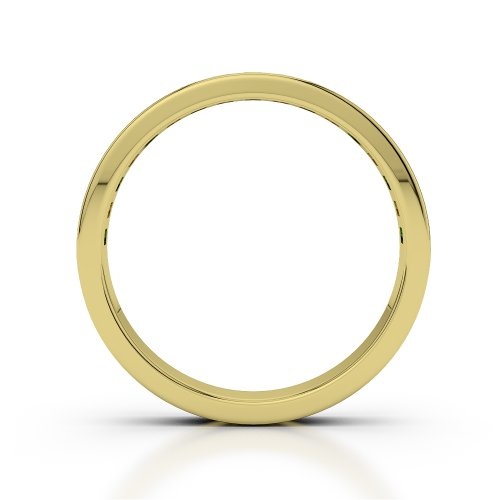 Or jaune 18carats 0,51CT G-H/VS Certifié Coupe ronde Émeraude et diamants Agdr-1135