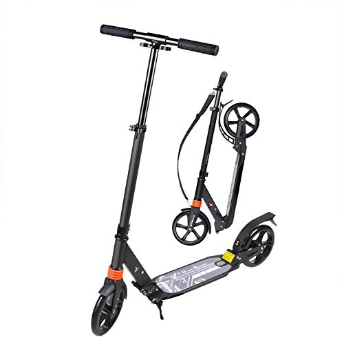 TABKEER Kick Scooter Adult 8 inches Big Wheels Scooters for