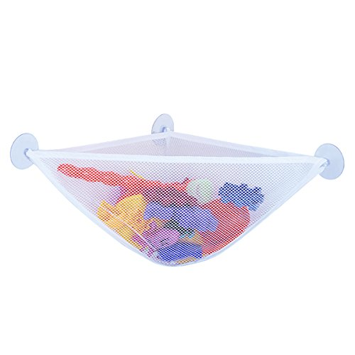 Zcargel Bath Toy Organizer Kids Bath Toy Storage Net and Corner Shower Caddy Bag with 3 Strong Suction Cups The Bathroom Storage Ideas for Baby Boys and Girls