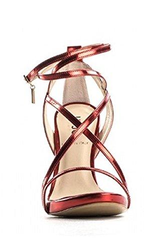 tacón Sandalia 1 Jo 12 Sumi Mujer Lea PL Rojo Listini Liu Cm Rosso Metallizzato Cm Xq5FxZ