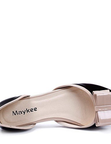 ShangYi Women's Shoes Comfort Flat Heel Leather Sandals Shoes More Colors available Black WK4AaKf4W