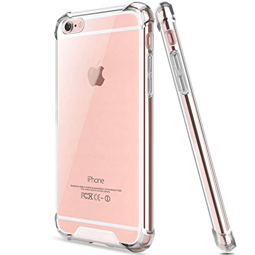 EGOTUDE Back Cover For Apple iPhone 6/6S   Silicone|Transparent