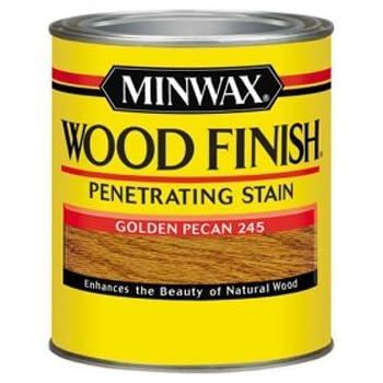 Minwax 70041444 Wood Finish Penetrating  Stain, quart, Golden Pecan
