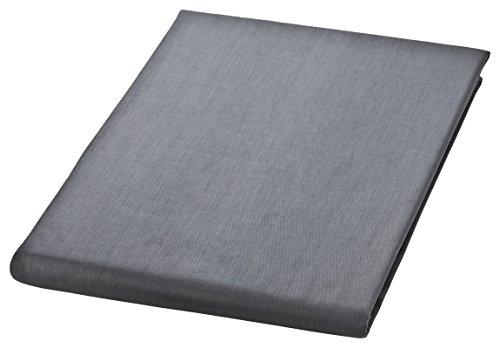MOON Premium Mako Satin Betttuch 100% Baumwolle Bettlaken 150x250 grau
