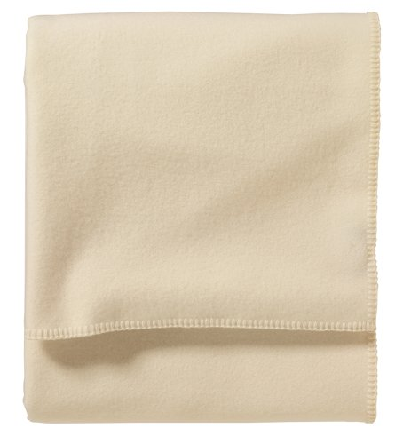 Pendleton - Eco-Wise Washable Wool Blanket, White, Twin