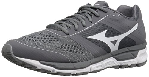 Mizuno Men's Synchro mx Baseball Shoe, Grey/White, 11 D US