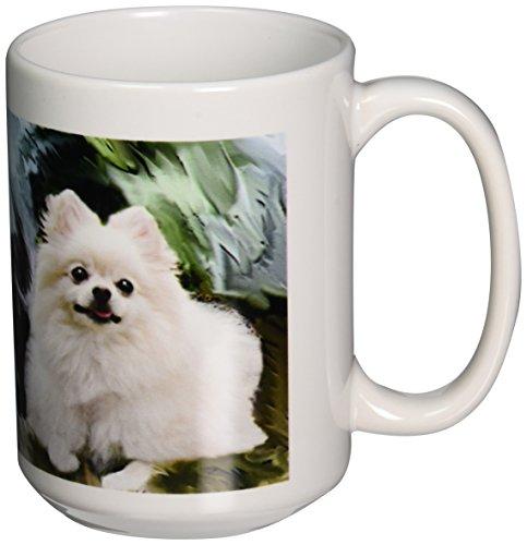 3dRose mug 4167 2 Pomeranian Mug 15 Ounce