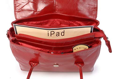 Besace Ella Sac Cuir Avec Collection Catwalk Ipad Vintage tablet Bandoulière À Rouge Main qPwRWE4