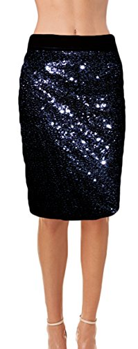 Ooh la la Womens Fully Lined Sequin Pencil Skirt with Soft Stretch Waistband (XX-Large, (Fully Lined Pencil)