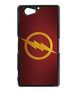 Cute Funda Case for Sony Xperia Z2 Compact DC Comics The Flash Logo Creative Design Ultra Thin TPU Funda Case & Cover (Only For Sony Z2 Compact)