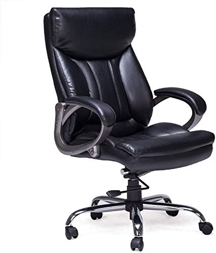Swell Orveay Executive Office Chair Big Tall Thick Padding With Adjustable Lumbar Support Comfortable Dual Padding High Back Bonded Leather Chair Inzonedesignstudio Interior Chair Design Inzonedesignstudiocom