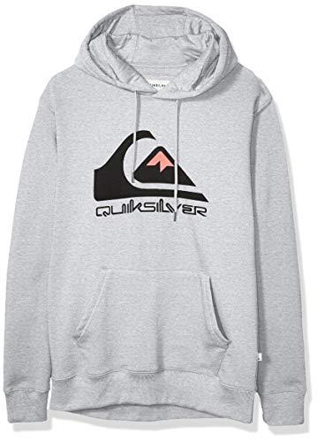 Quiksilver Men's Omni Logo Screen Fleece Pullover, Athletic Heather, S (Quiksilver Headphones)