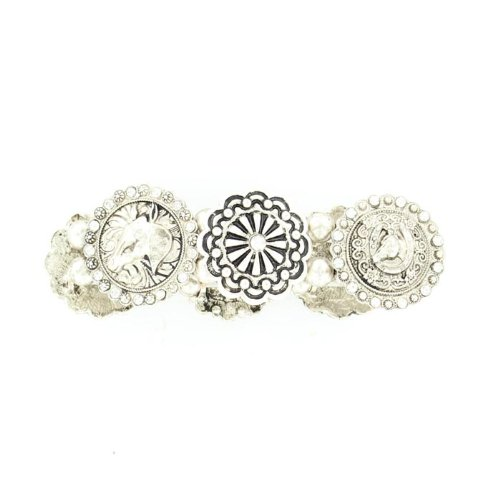 Blazin Roxx Women's Fancy Concho Stretch Bracelet Silver One - Fancy Concho
